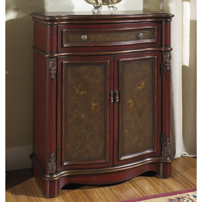Hand-painted Mahogany Finish Accent Chest