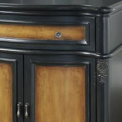 Hand-painted Black/ Brown Finish Accent Chest