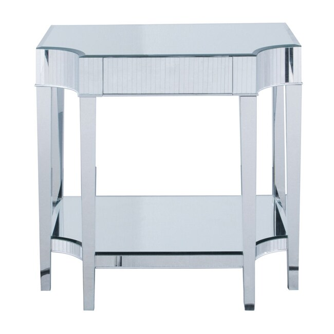 Mirrored Console Accent Table Silver Free Shipping