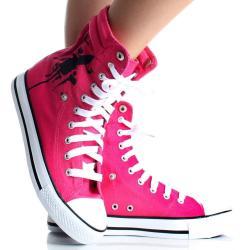 Playboy by Beston Women's Pink High-top Sneakers - Thumbnail 1