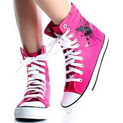 Playboy by Beston Women's Pink High-top Sneakers - Thumbnail 2