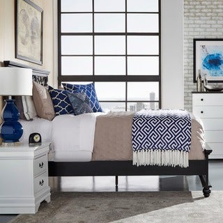 Piston Black Modern Cottage Queen Low Profile Bed by INSPIRE Q