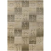 Hand-Knotted Multicolored Patchwork La Crosse Semi-Worsted New Zealand Wool Area Rug (8' x 11') - 8' x 11'