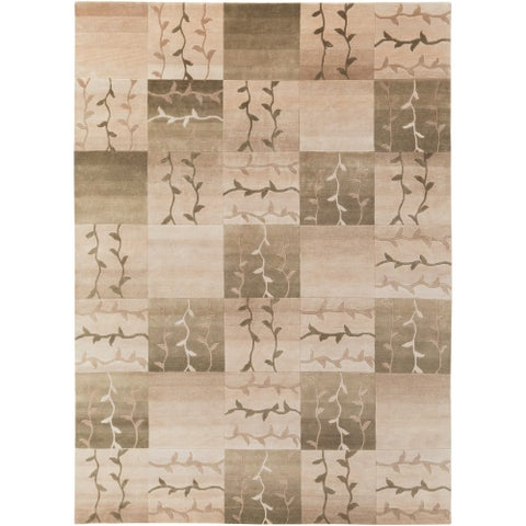 Hand-Knotted Multicolored Patchwork La Crosse Semi-Worsted New Zealand Wool Area Rug - 8' x 11'/Surplus