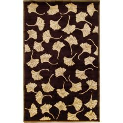Hand-Knotted Multicolored La Crosse Semi-Worsted New Zealand Floral Wool Rug (8' x 11')