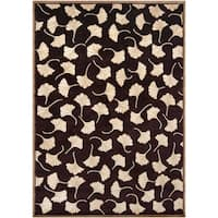 Hand-Knotted Multicolored La Crosse Semi-Worsted New Zealand Floral Wool Area Rug - 8' X 11'