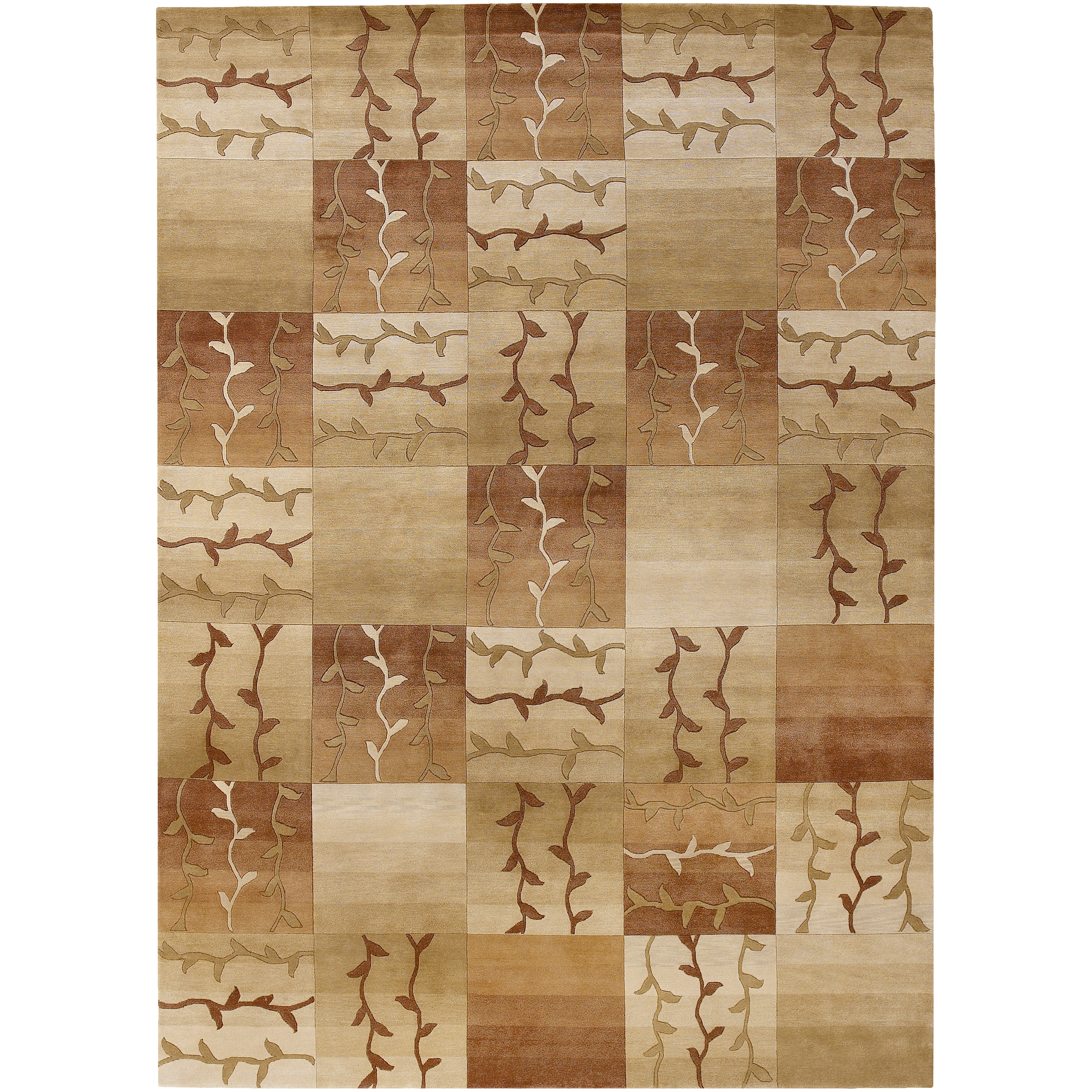 Hand-knotted Multicolored La Crosse Semi-Worsted New Zealand Wool Rug (8' x 11')