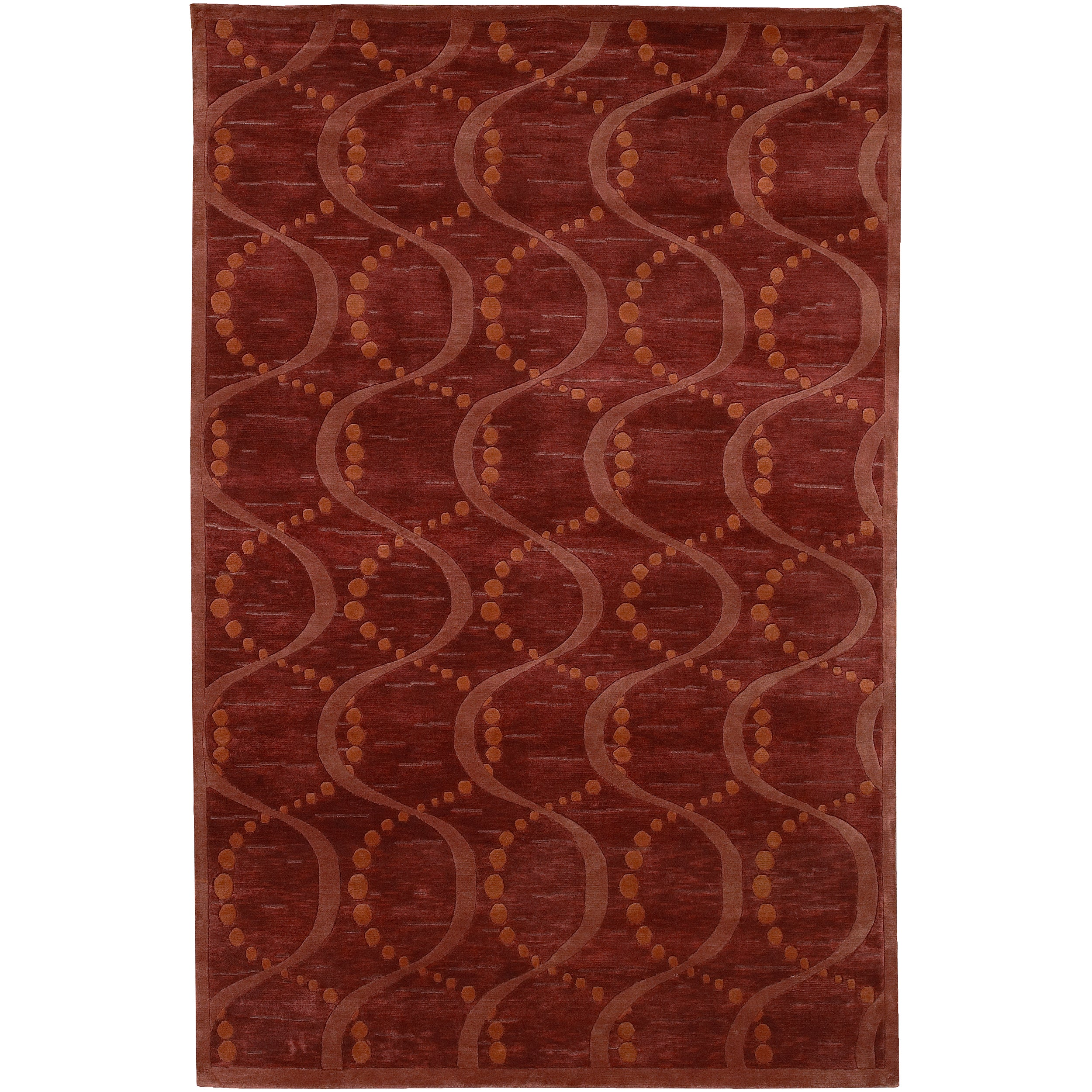 Hand-Knotted Multicolored La Crosse Geometric Semi-Worsted Wool Area Rug - 5' x 8'