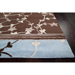 Hand-knotted Multicolored La Crosse Floral Wool Rug (8' x 11') - Thumbnail 1