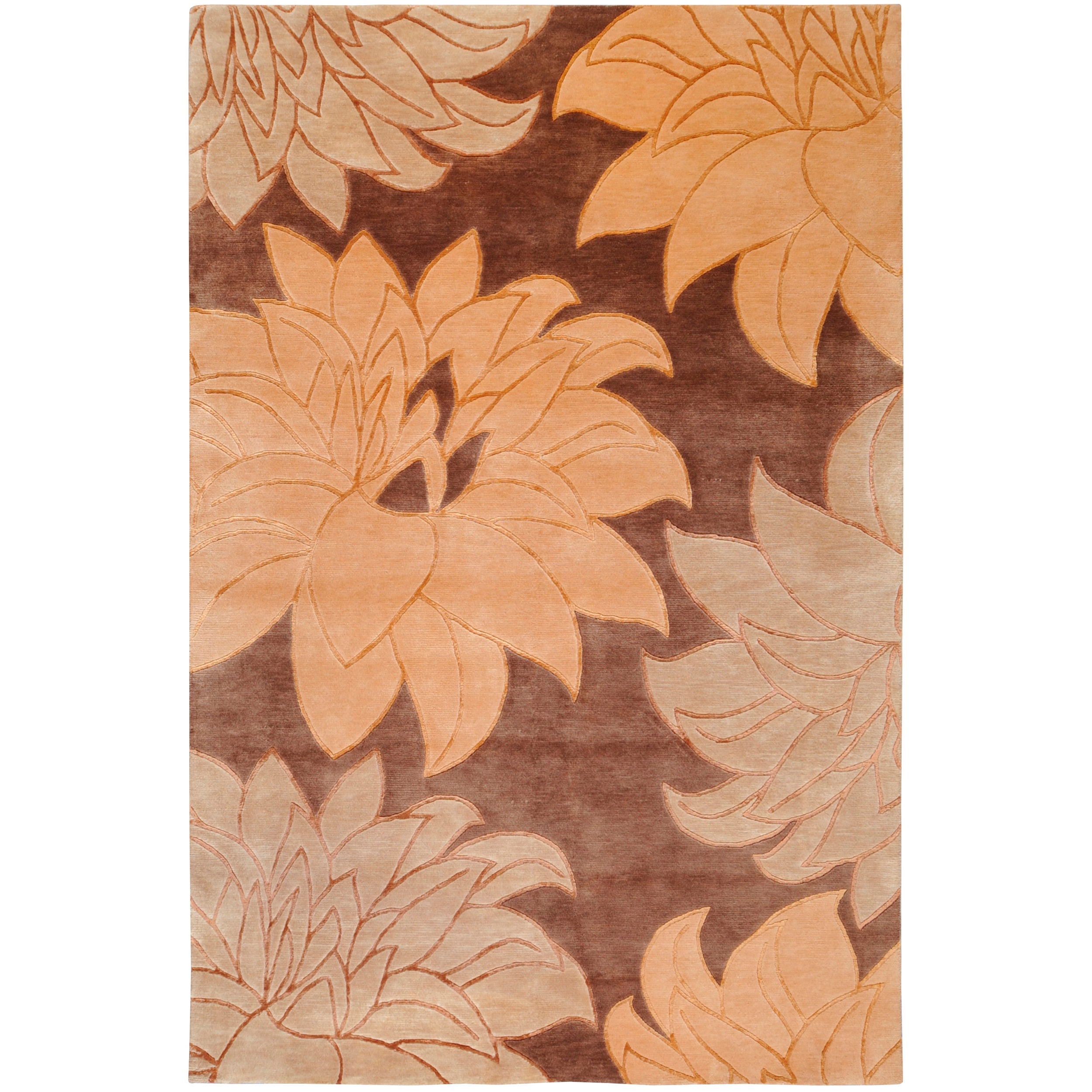 Hand-Knotted Multicolored La Crosse Semi-Worsted Transitional New Zealand Wool Area Rug - 9' x 13'
