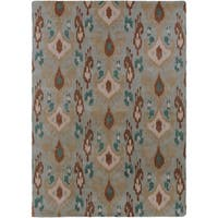 Hand-tufted Blue Carron Bay Wool Area Rug - 8' X 11'