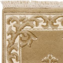 Hand-knotted Gold Grante Wool Rug (3'3 x 5'3) - Thumbnail 1