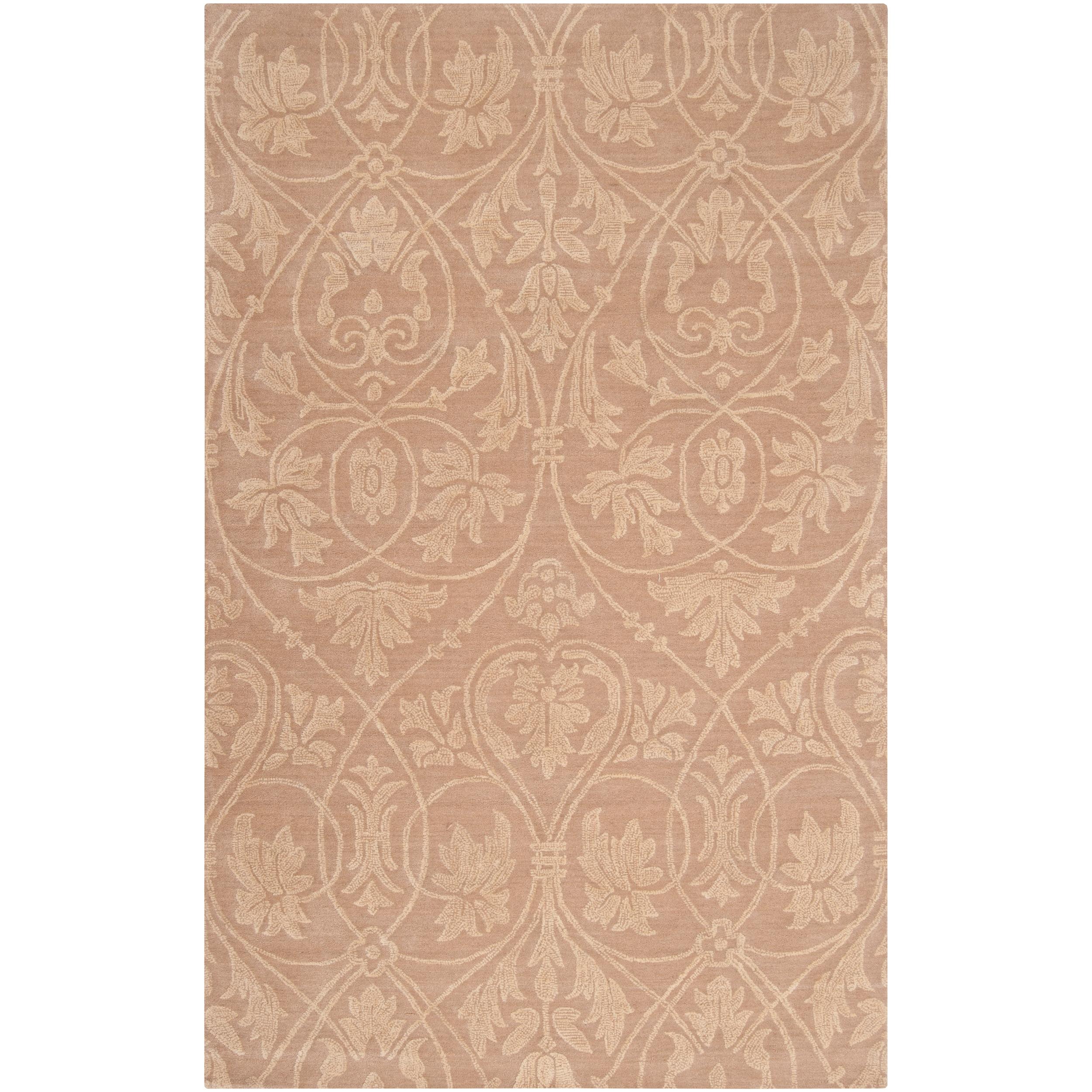 Woven Tan Carron Bay Wool and Nylon Rug (5' x 7'6)