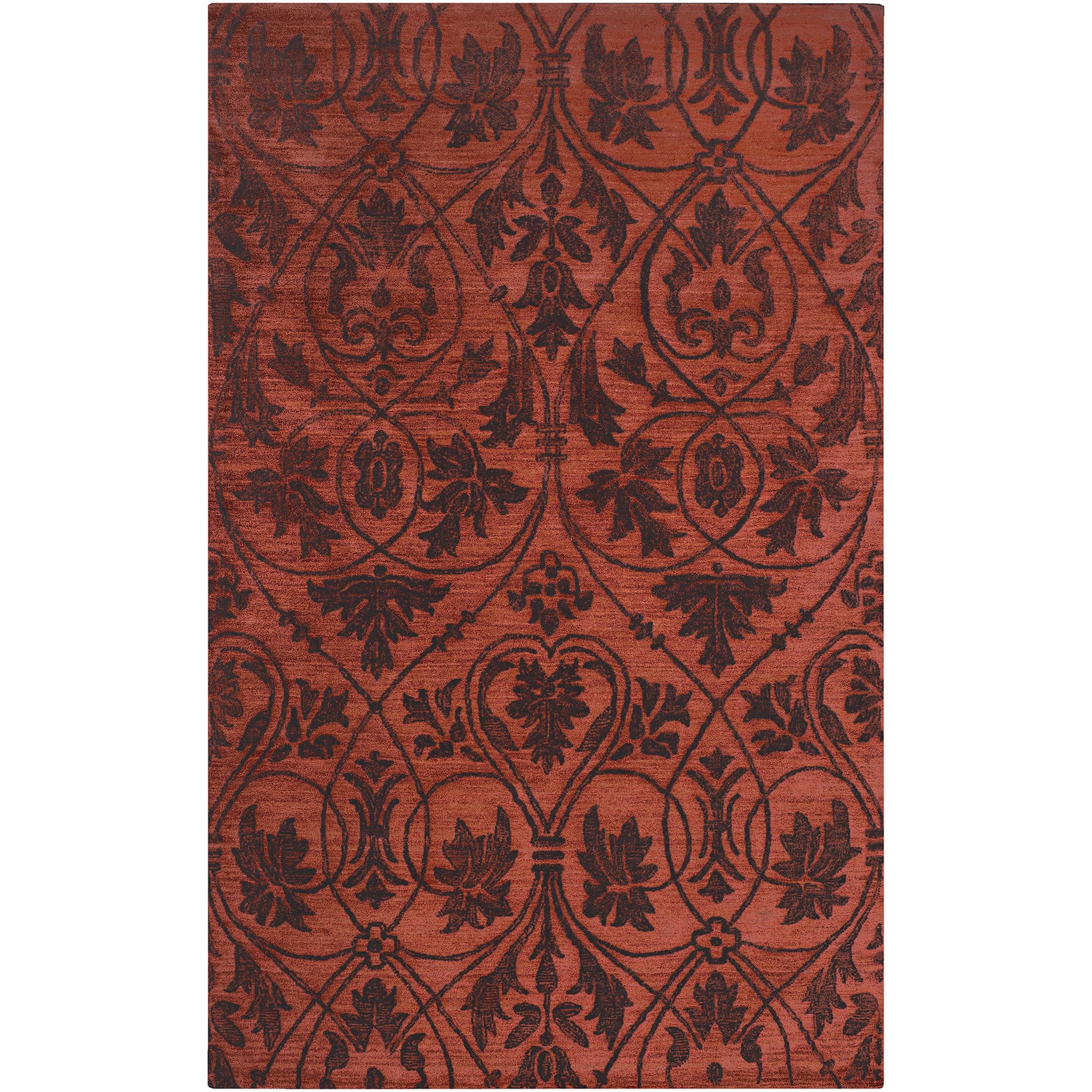 Woven Red Carron Bay Wool and Nylon Rug (3'3 x 5'3)