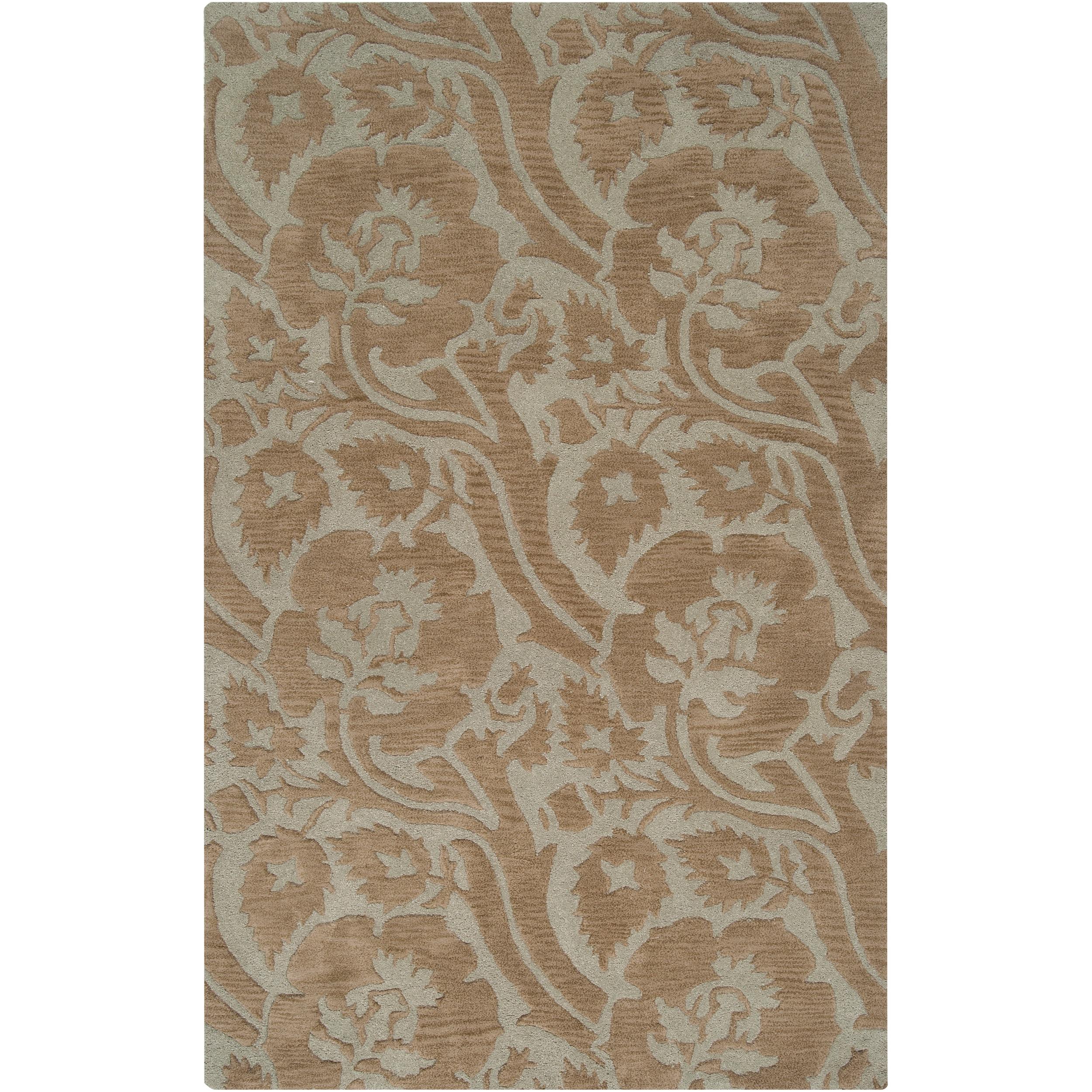 Transitional Hand-Tufted Gray Garavogue New Zealand Wool Rug (9' x 13')