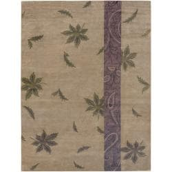 Hand-Knotted Multicolored La Crosse Semi-Worsted Indoor New Zealand Wool Area Rug - 9' x 13' - Thumbnail 0