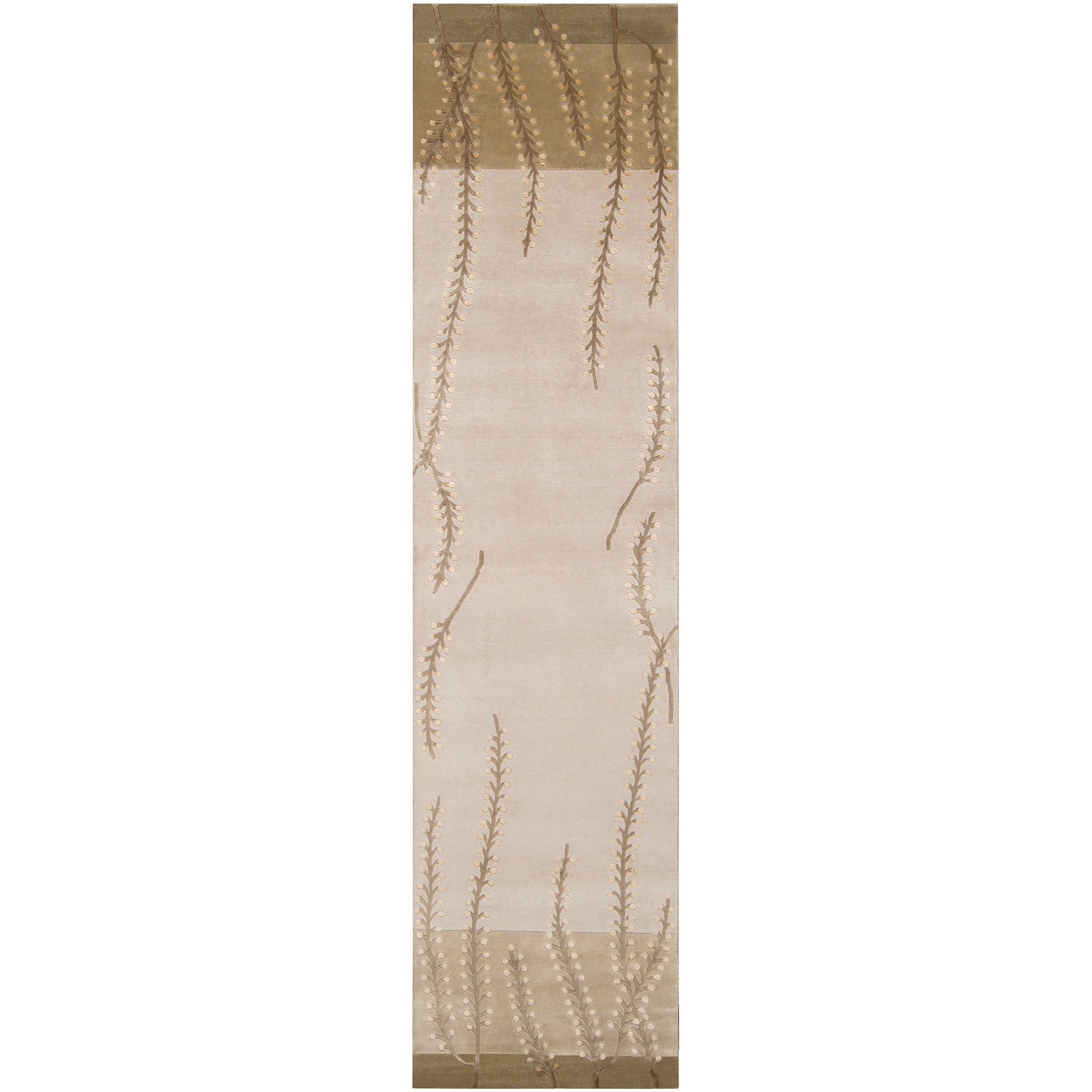 """Hand-Knotted Abstract Multicolored La Crosse Semi-Worsted New Zealand Wool Area Rug - 2'6"""" x 10' Runner/Surplus"""