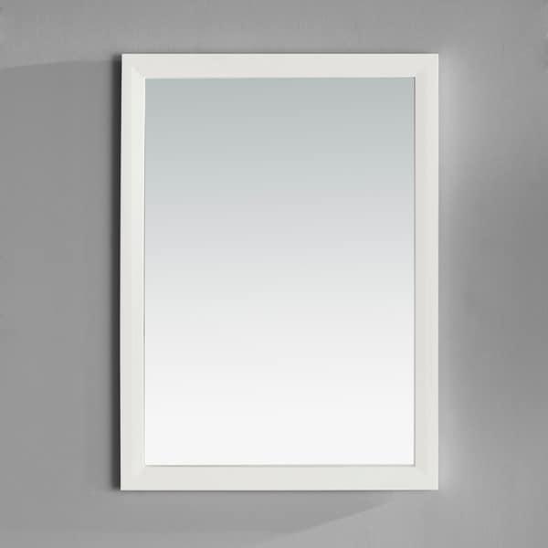 WYNDENHALL Oxford 22 x 30 White Vanity Decor Mirror