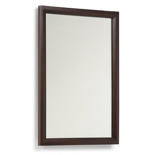 WYNDENHALL Oxford 22 x 30 Espresso Brown Vanity Decor Mirror