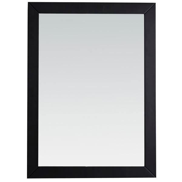 WYNDENHALL Windham 22 x 30 Black Bath Vanity Decor Mirror