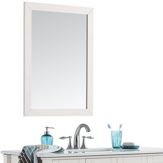 WYNDENHALL Windham 22 x 30 White Bath Vanity Decor Mirror - 22 inch wide