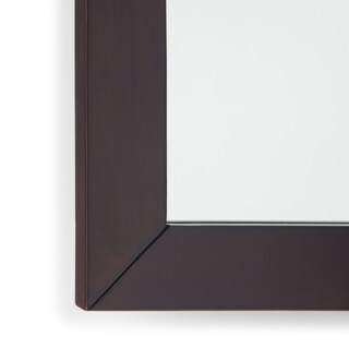 WYNDENHALL New Haven 22 x 30 Walnut Brown Bath Vanity Decor Mirror