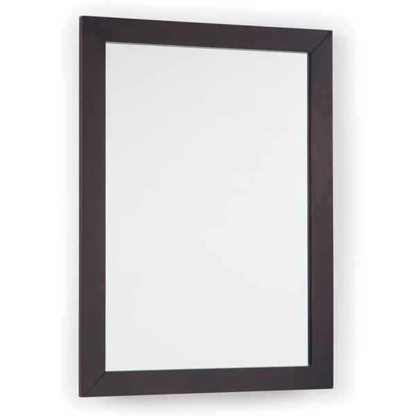"""WYNDENHALL New Haven 22 inch x 30 inch Bath Vanity Décor Mirror in Dark Walnut Brown - 22""""w x 1""""d x 30""""h"""