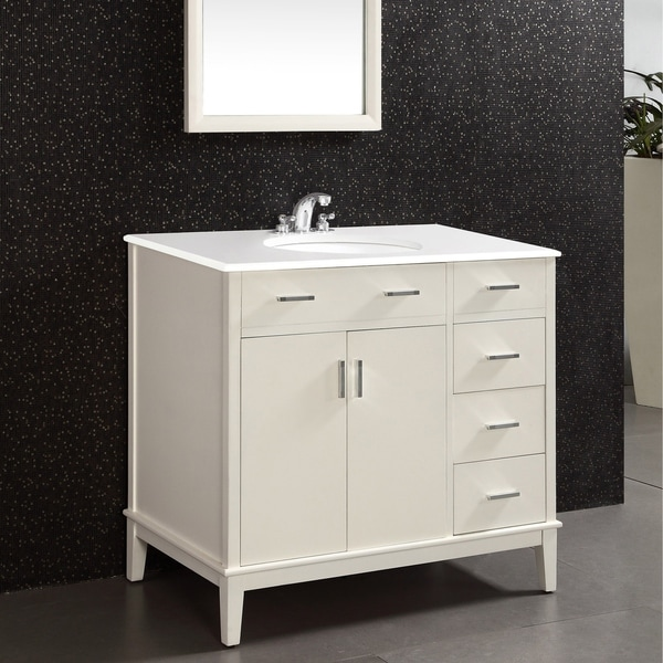 Shop WYNDENHALL Oxford 36 inch Contemporary Bath Vanity in ...