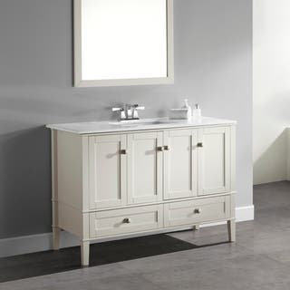 48 inch double sink bathroom vanity. WYNDENHALL Windham Soft White 48 inch 2 door drawer Bath Vanity with 41 50 Inches Bathroom Vanities  Cabinets For Less