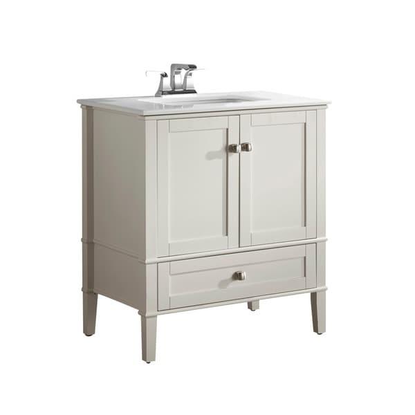 wyndenhall windham soft white 2-door 36-inch bath vanity set with