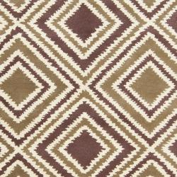 Hand-tufted Olive New York Ave Geometric Diamond Wool Rug (8' x 11') - Thumbnail 2