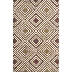 Hand-tufted Olive New York Ave Geometric Diamond Wool Area Rug (9' x 13') - 9' x 13' - Thumbnail 0
