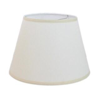 Off White Linen Hardback Modified Drum Lamp Shade