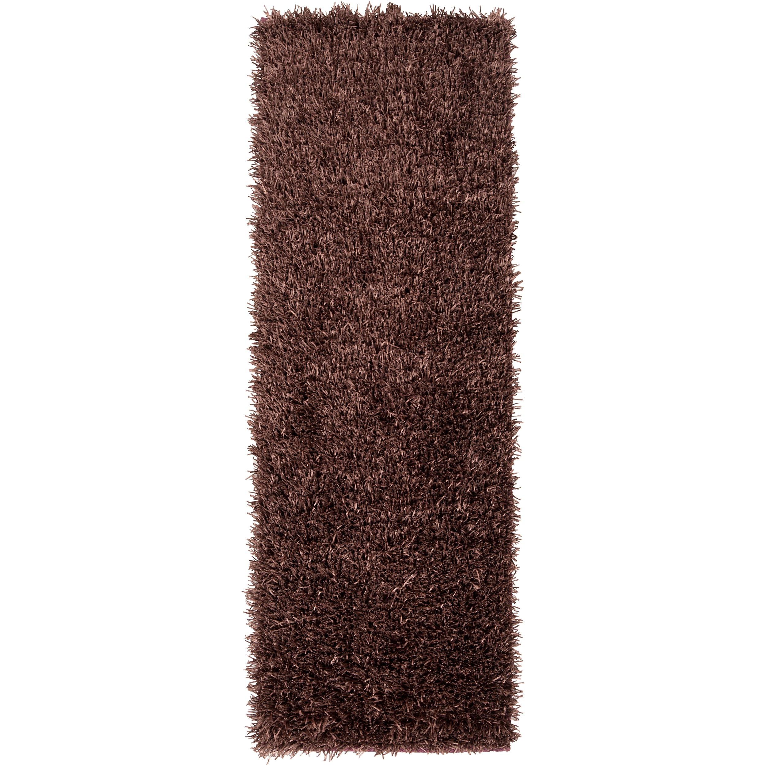 "Handwoven Brown South Hampton Soft Plush Shag Runner Rug (2'6"" x 8')"