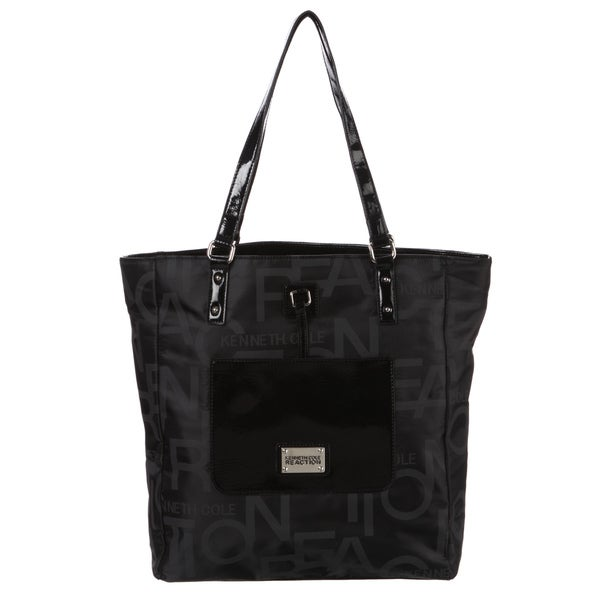 Kenneth Cole Reaction Black Signature Tote Handbag