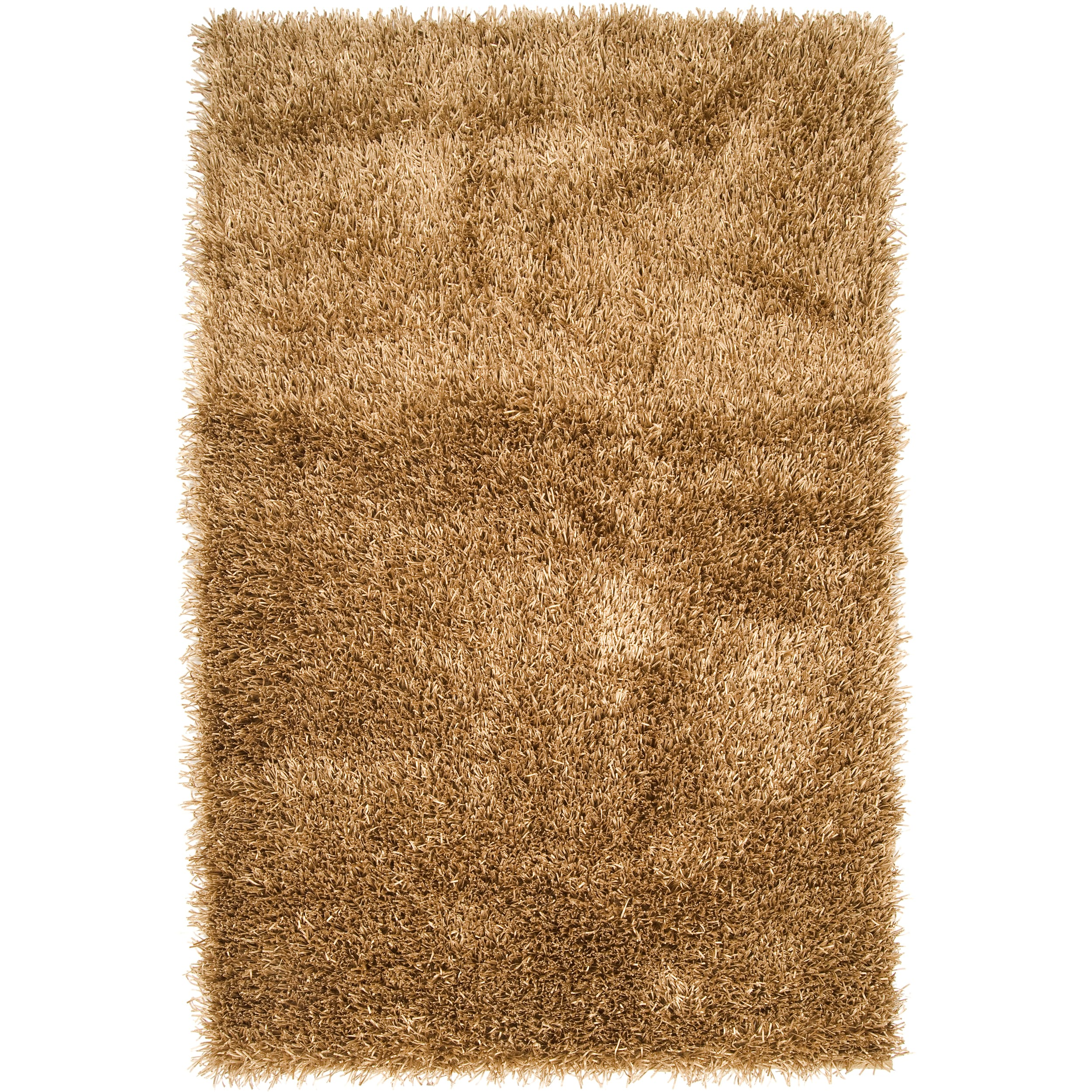 Hand-woven Gold South Hampton Soft Plush Shag Rug (3'6 x 5'6)