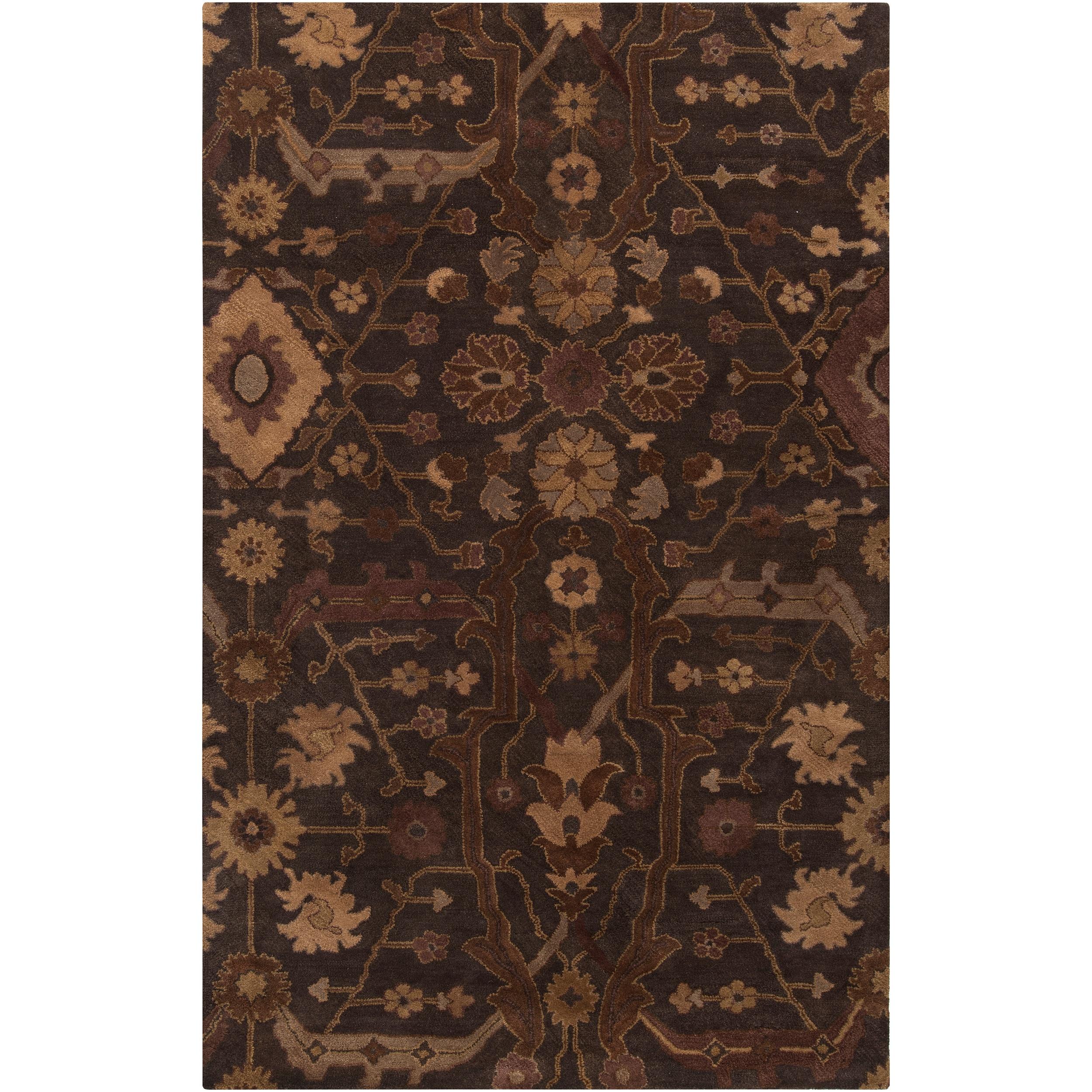 Hand-tufted Brown Ferus New Zealand Wool Rug (3'3 x 5'3)