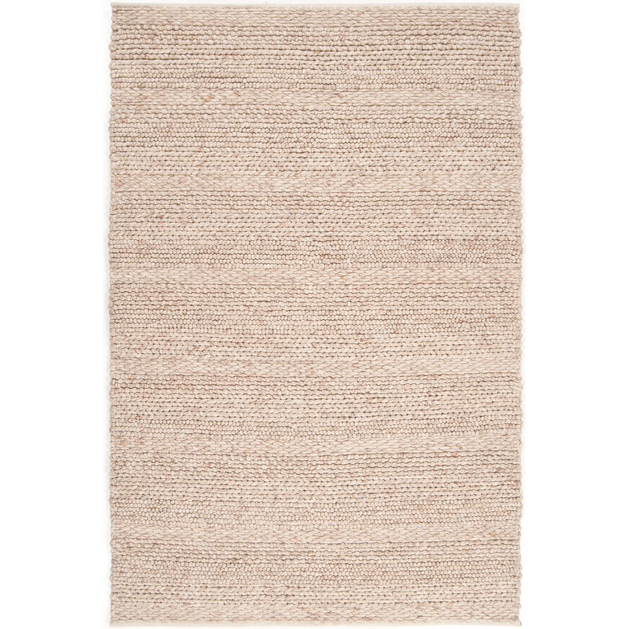 The Gray Barn Magda Hand-woven Casual Solid Beige Wool Area Rug - 5' x 8'