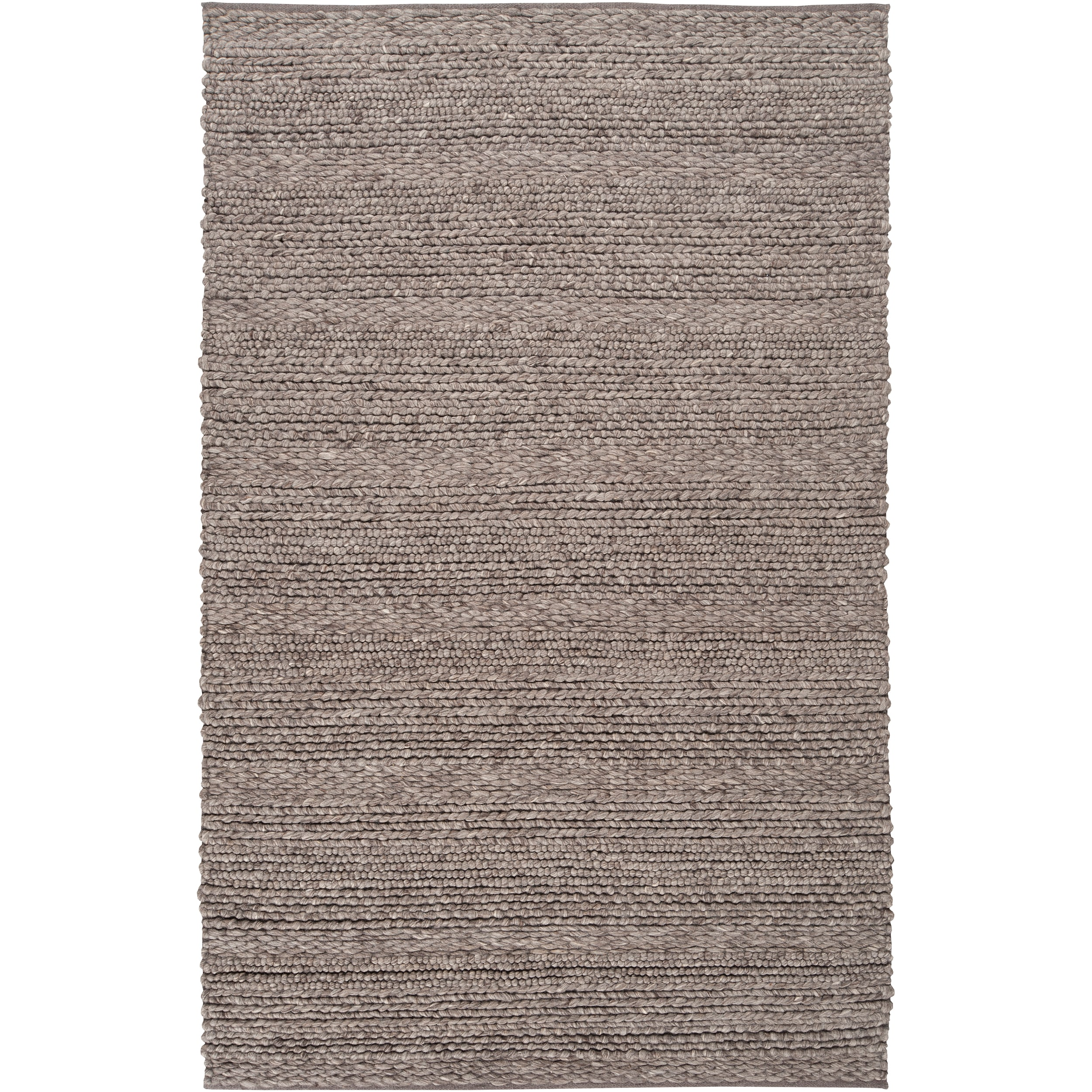 Hand-woven Casual Solid Grey Tame Wool Rug (8' x 10')