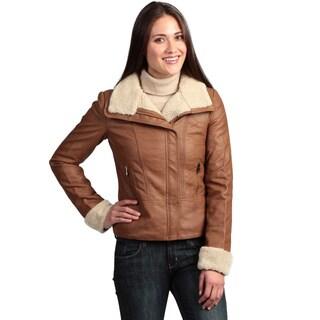 Collezione Women's Faux Leather Jacket