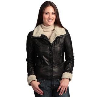 Collezione Women's Plus Faux Leather Jacket