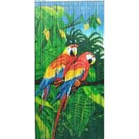 Twin Parrots Bamboo Curtain (Vietnam) - 36 x 80