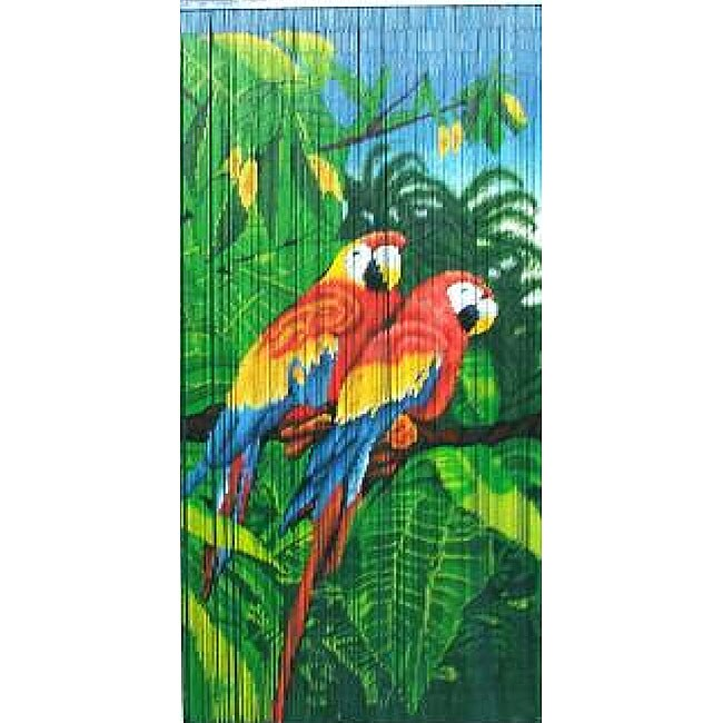 Twin Parrots Bamboo Curtain (Vietnam)