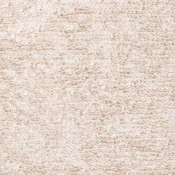 Hand-woven White Eau Claire New Zealand Wool Shag Rug (2' x 3')