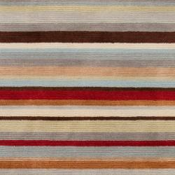 Contemporary Hand-Knotted Multicolored Eau Claire Stripe Wool Area Rug (2' x 3') - Thumbnail 2