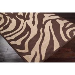 Meticulously Woven Multi Colored Calurnet Animal Print Rug (2'2 x 3')