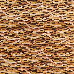 "Woven Multicolored Calurnet Geometric Links Contemporary Viscose Rug (2'2"" x 3')"