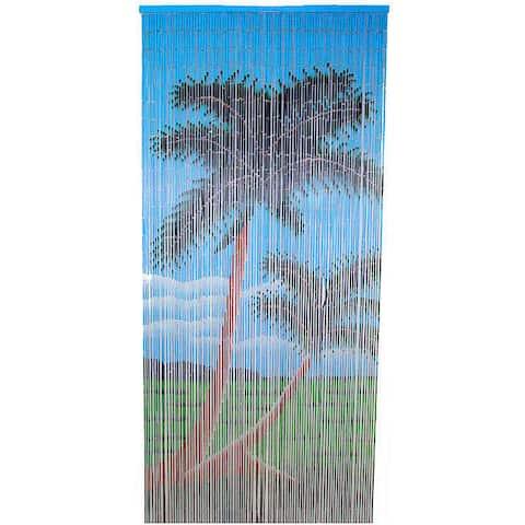 Double Palm Tree Bamboo Curtain (Vietnam) - 36 x 80