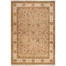 Hand-Knotted Multicolored Calurnet Semi-Worsted Traditional New Zealand Wool Rug (9' x 13')