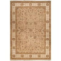 Hand-knotted Multicolored Calurnet Semi-Worsted New Zealand Wool Area Rug (3'9 x 5'9)